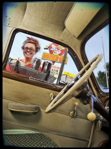 Drive-in Waitress at Window