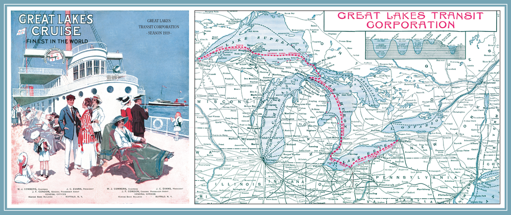 The Great Lakes Cruises Route Map