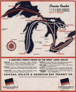 Michigan Cruise Routes Map