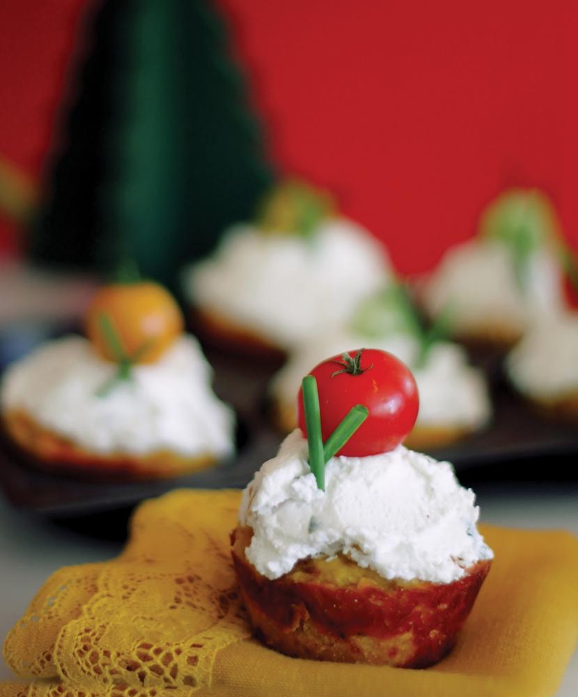 Savory Sweet Potato Cheddar Cupcakes