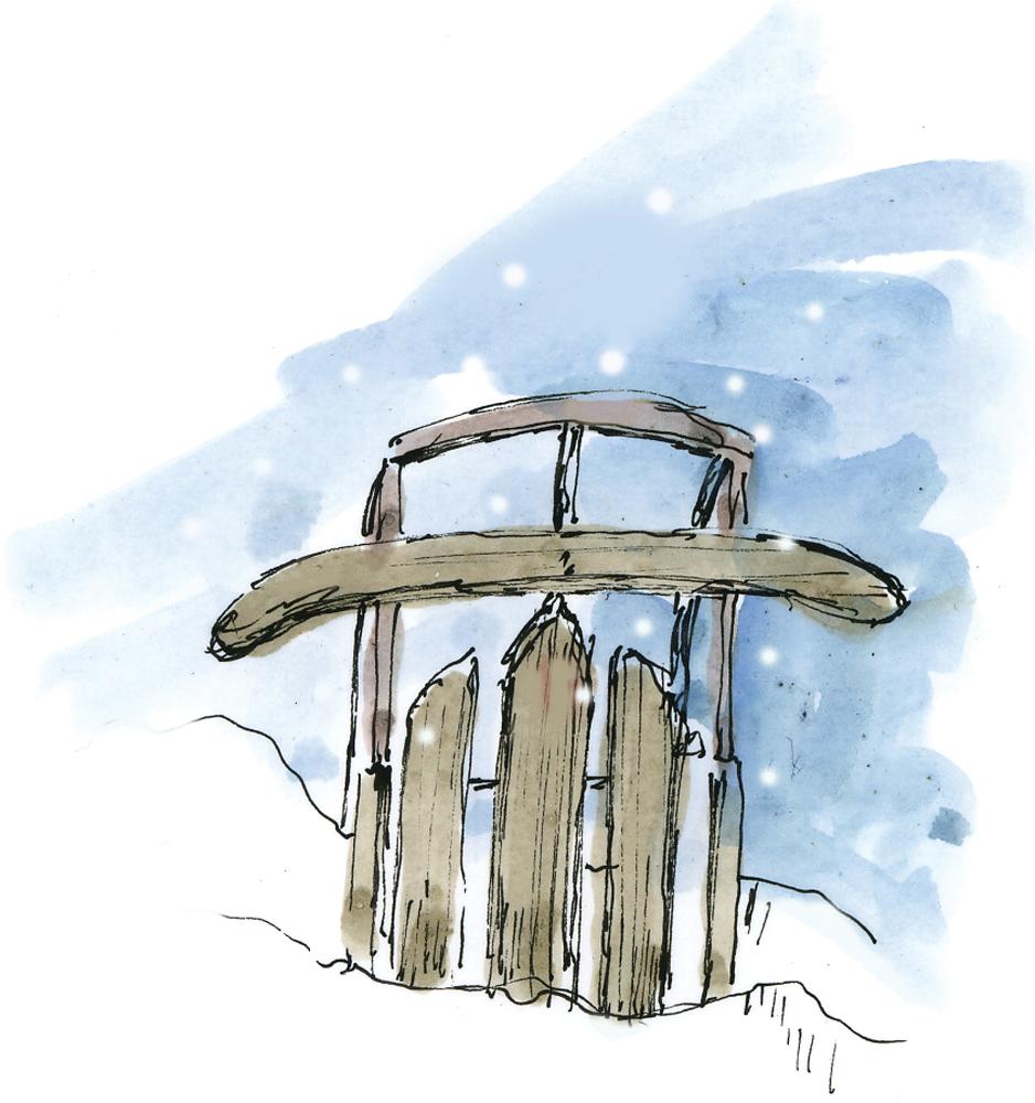 xmas winter sled