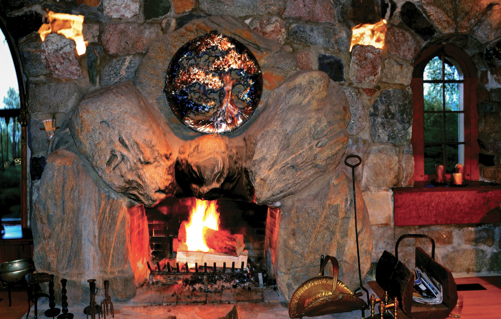 Boulder Manor Fireplace