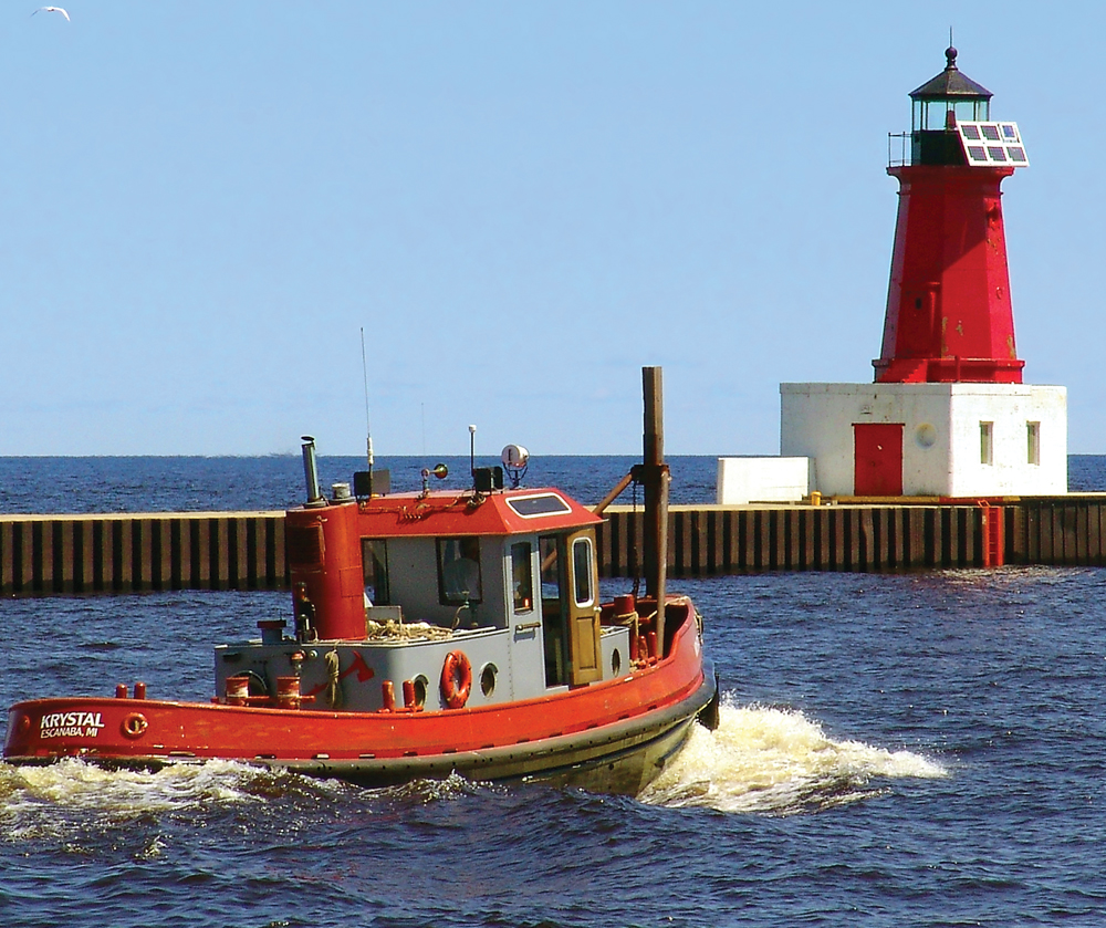 The Breakwater Light in Manistique