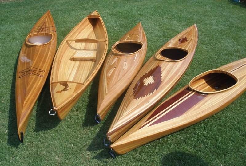 Hand Crafted Wood Canoes