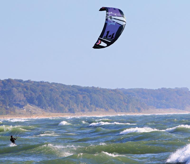 Kite Surfing on Lake Michigan