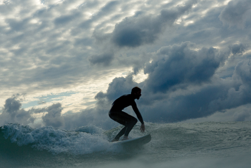 Surfing has become popular on Michigan shoreline waters.