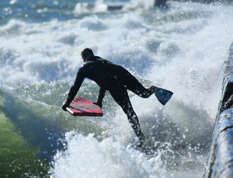 Boogie Boarding in Grand Haven on Lake Michigan