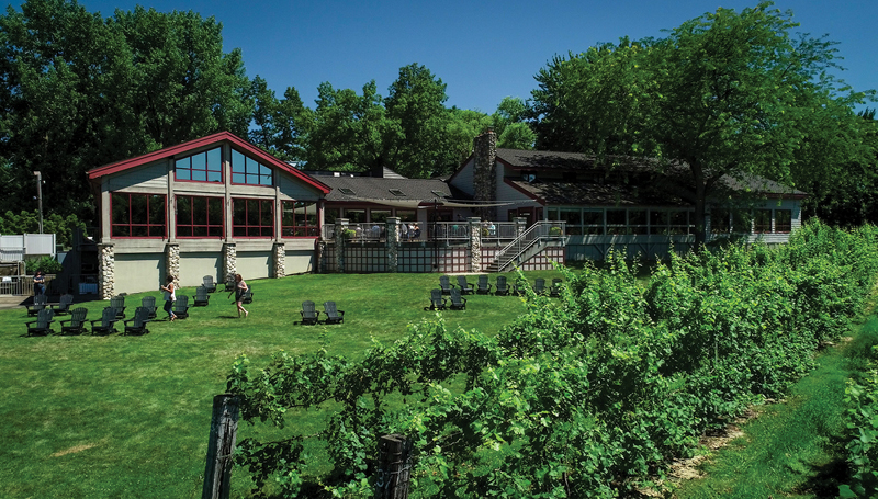 Exterior of Tabor Hill Winery
