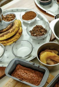 Ingredients for acorn banana bread