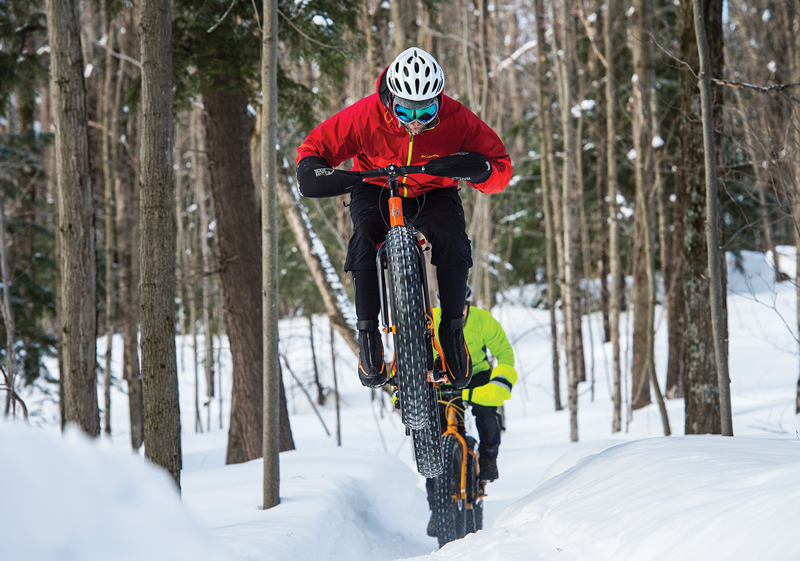 Snow Bike Route trails in Marquette, Michigan.