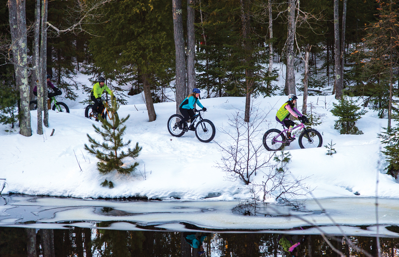 Dead River fat bike trails in Marquette, Michigan.