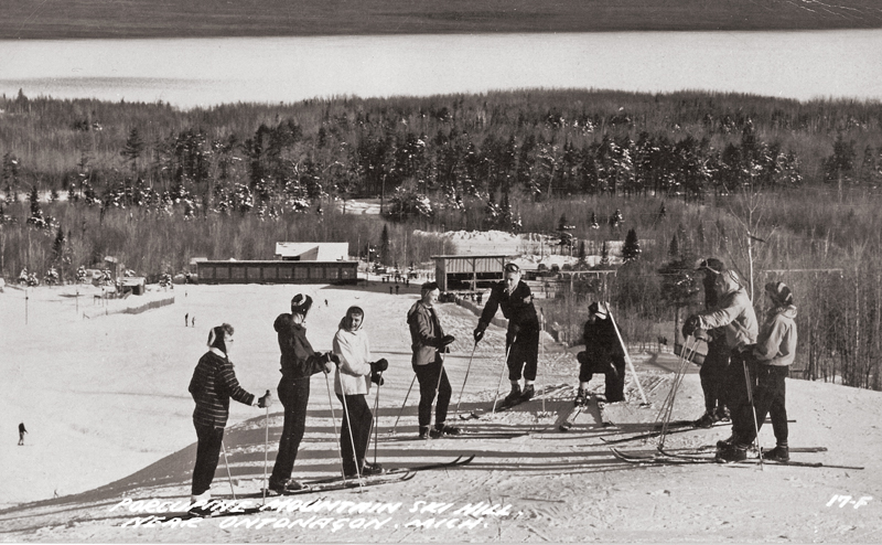 Skiers on Porcupine Mountain