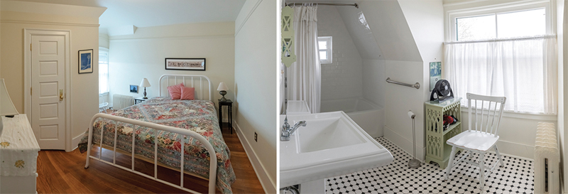 Point Betsie Lighthouse Bedroom and Bathroom