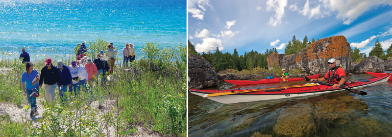 Hikes and paddle tours