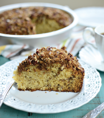 Roasted Banana Coffee Cake