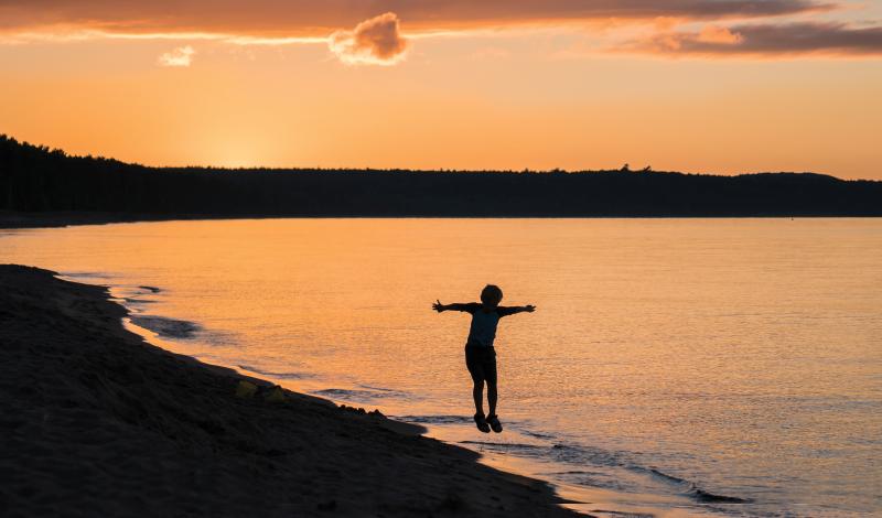 Lake Superior beach near Marquette