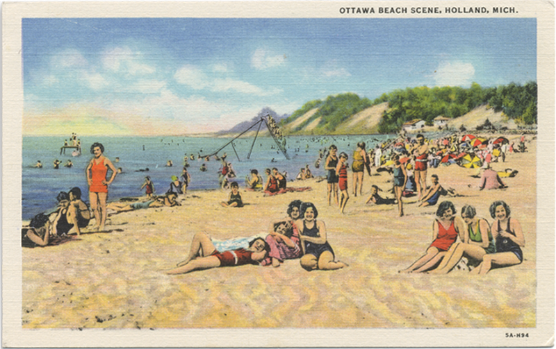 Ottawa Beach postcard