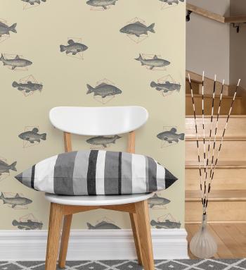Detroit Wallpaper Co. fish theme