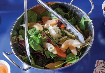 Winter greens salad