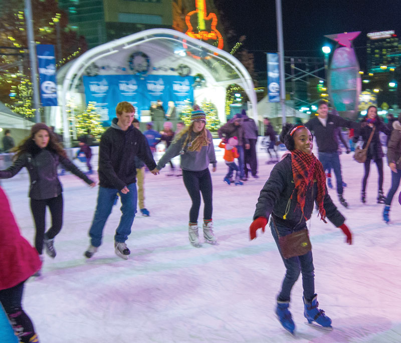Skaters at Detroit's Campus Martius Park