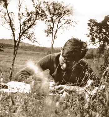 Hemingway working