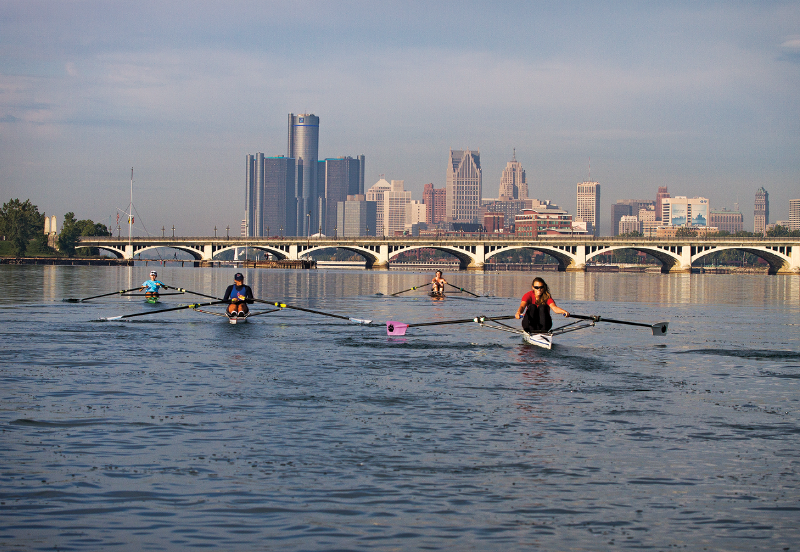 Detroit River rowing