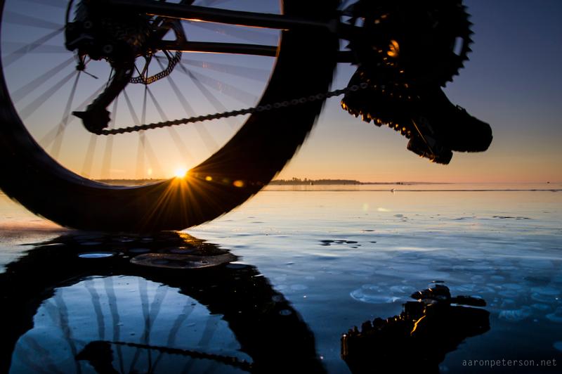 Aaron Peterson Bikes Michigan Trails
