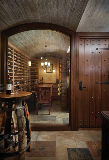 Old World style wine cellar