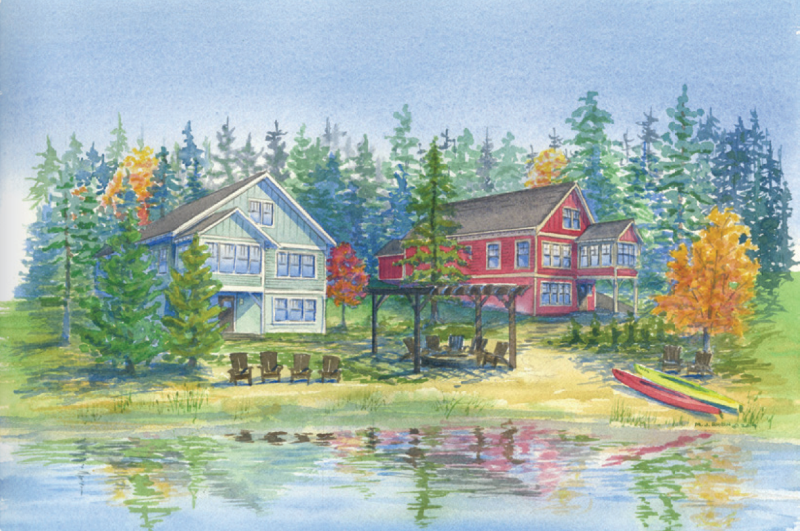Lakemore Retreat watercolor
