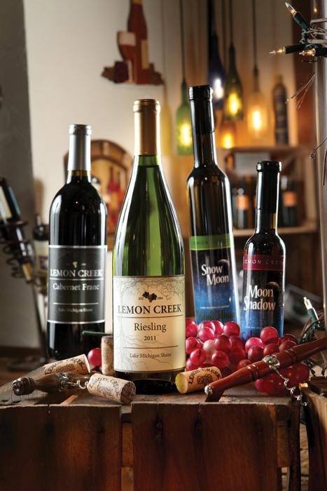 Lemon Creek Winery bottles