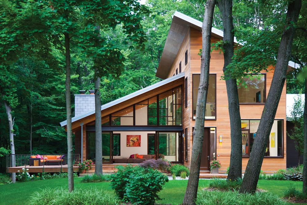 De Witts' contemporary, soaring roofline