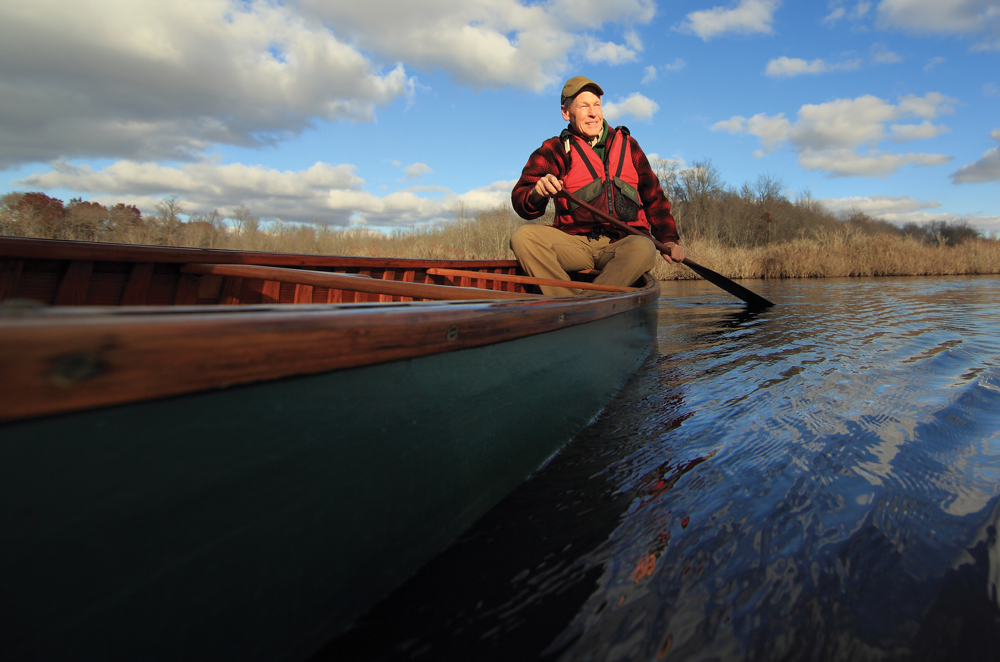 Paddler on canoe