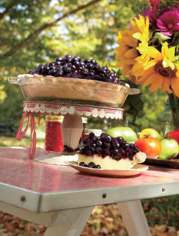 The Farmette's Blueberry Basil Cream Pie