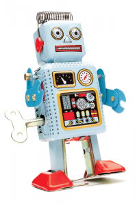 iStock photo of a robot toy