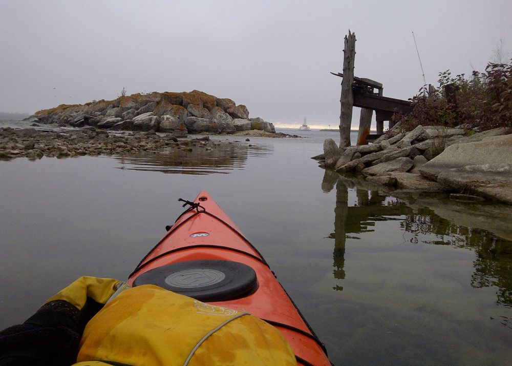 kayakers view