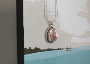 necklace with painting
