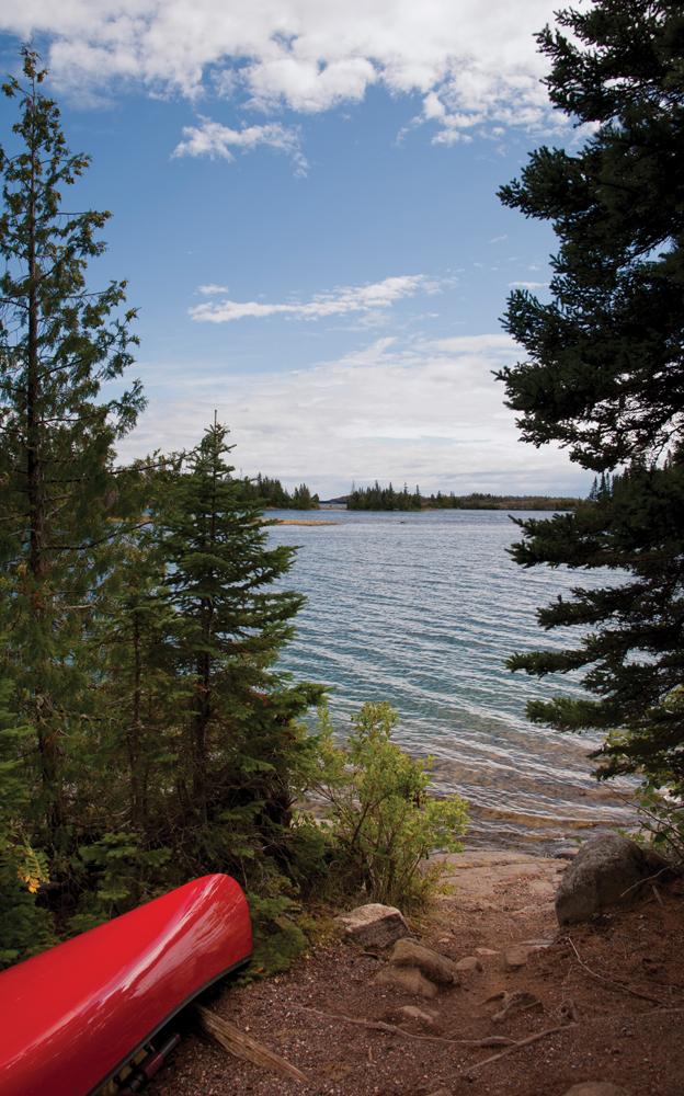 Merritt Lane campsite on Tobin Harbor