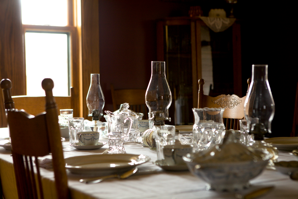 Interior of the Hillside Homestead Dining Table Setting