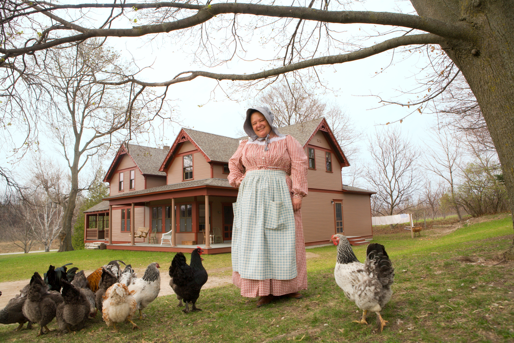 Hillside Homestead B & B Chicken's and Innkeeper Susan Odom's