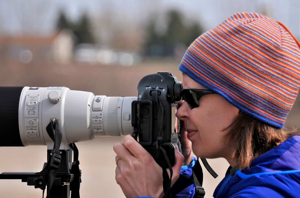 Kristina Lishawa taking photos