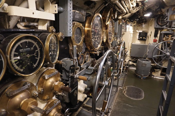 A look at the controls of the USS Silversides submarine that can be toured in Muskegon.