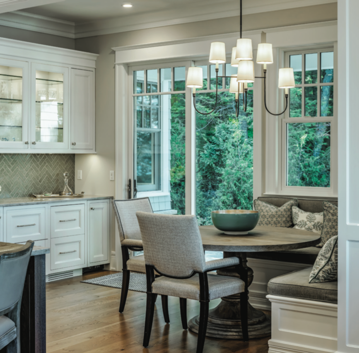 Great Lake Story 2019 Breakfast Nook and Custom Built-ins