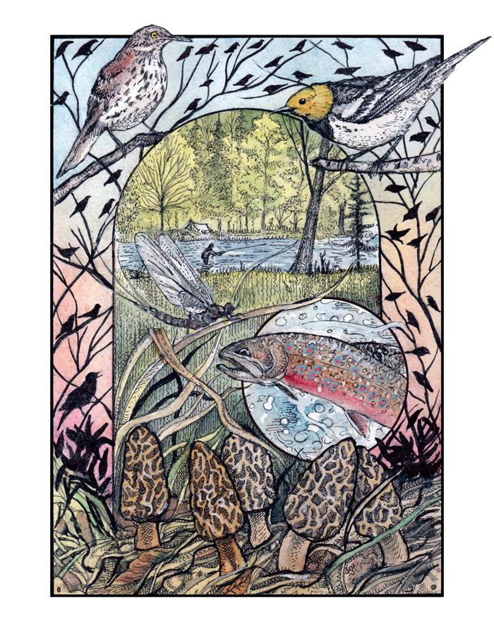 The Dawn Chorus - Spring 2020, Illustration by Glenn Wolff.