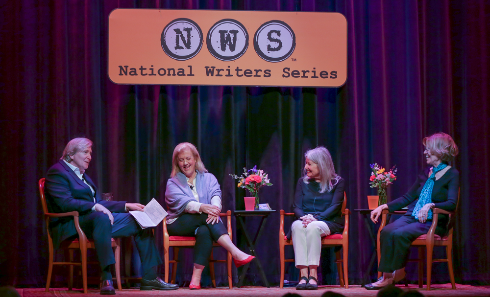 Doug Stanton, NWS co-founder, chats with authors Elizabeth Letts, Elizabeth Berg and Lynne Olson.