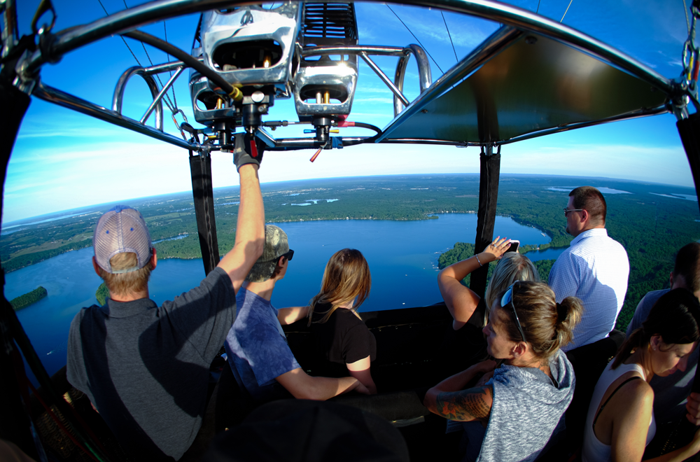 Traverse City Balloon Tours From Above